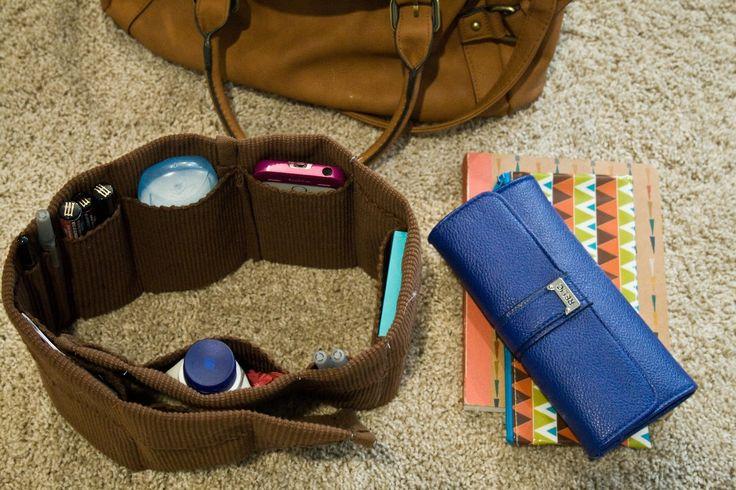 cinque sedicesimi blog: Make it Lunedi // Facile organizzatore della borsa fai da te da tovagliette