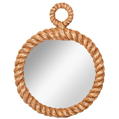Pier Rope Wall Mirror     List $139.99   SKU 115823   3inches wide21.5inches highx 17.5inches in diameter