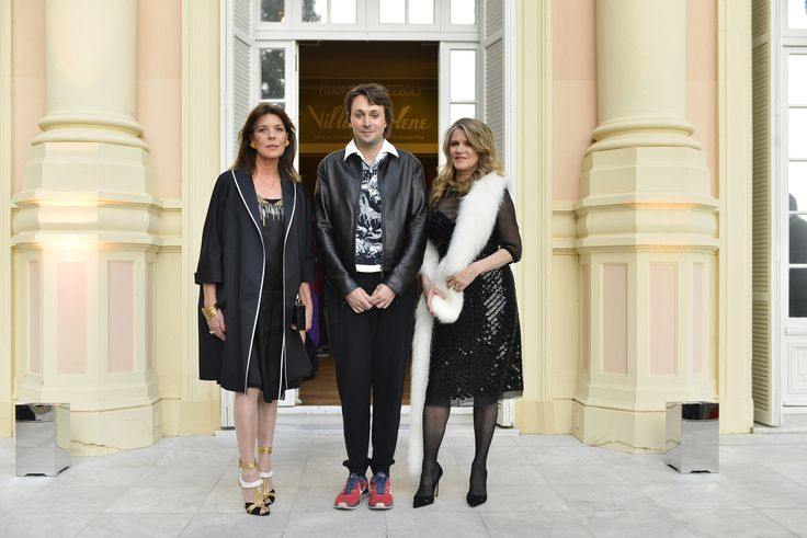 Caroline de Monaco, Francesco Vezzoli et Barbara Sukowa
