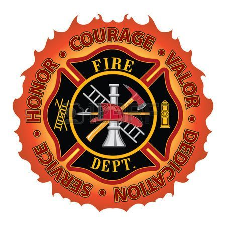 Firefighter Honor Courage Valor is a fire department or firefighter Maltese cross symbol design with flame border encircled by �Honor, Courage, Valor, Dedication and Service� Includes firefighter tools symbol. Stock Photo - 30678703. Check out that cool T-Shirt here: https://www.sunfrog.com/I-love-my-firefighter-Black-Ladies.html?53507