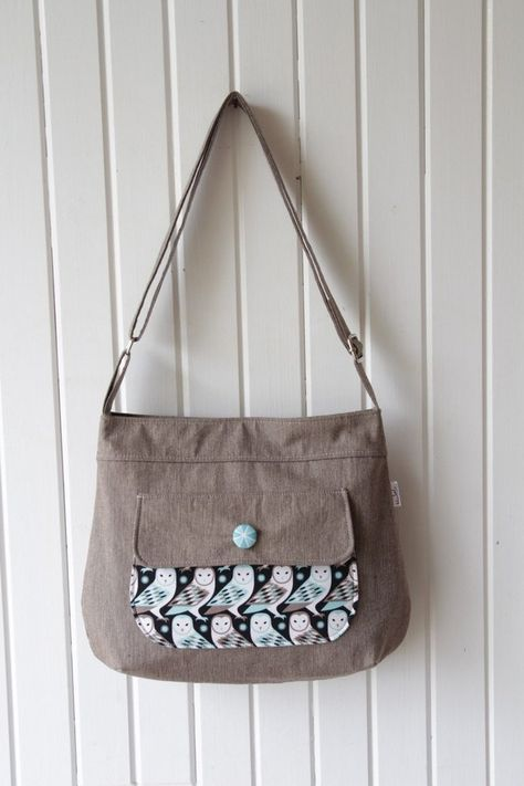 7cb57d8add06 The Thistle Pocket Tote Cross Body Bag - PDF Sewing Pattern