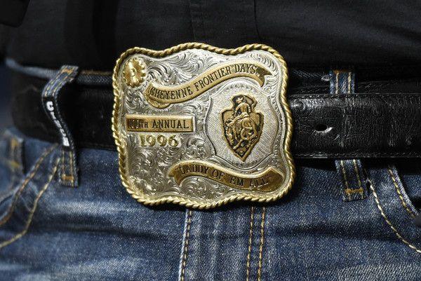 Garth Brooks Photos - Garth Brooks (belt buckle detail) attends Garth Brooks New…