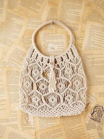 Vintage macrame handbag macram pinterest bolsos - Tapices de macrame ...