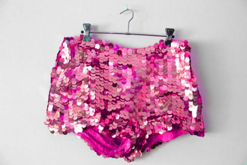 Pink sparkly shorts <3