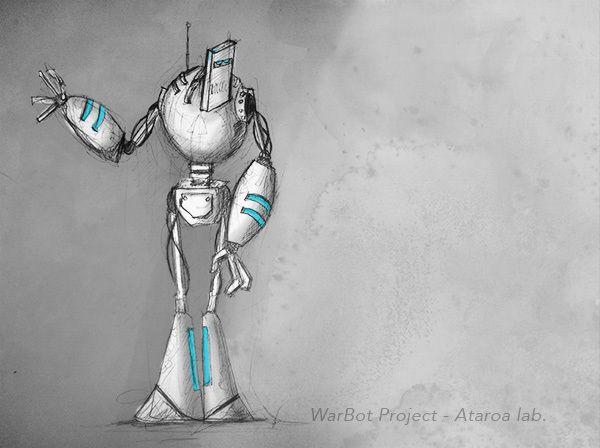 Warbot Project sketch by Franck Barlet ( @Franck Barlet ), via Behance #robot #sketch