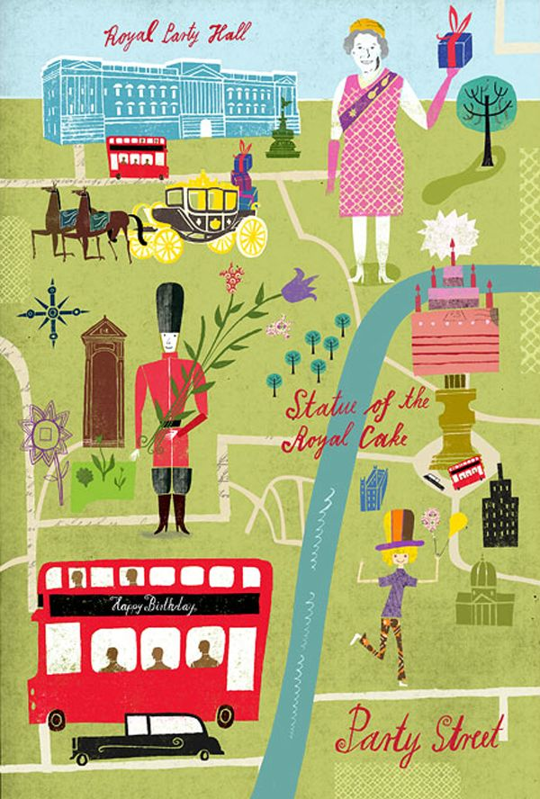 Travel illustration by Martin Haake - London