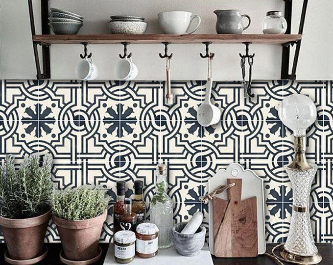 Tralliccio Chalk Blue Lattice Pattern Wallpaper Removable Etsy Vinyl Tile Vinyl Wallpaper Sophisticated Tile