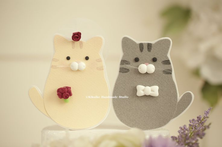 Cat/kitty Wedding Cake Topper,Kitty Wedding Cake topper,Custom Cat Wedding cake topper,Kitty Couple Wedding Cake Topper #kitten #pet #handmaecaketopper #unique #gift #ceremony #cute #animalscaketopper #weddingideas #planning #weddingthings #kikuikestudio #chat #ネコ #cakedecor #gato #Katze