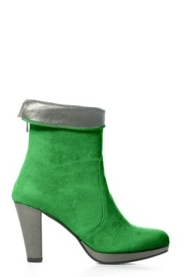 Boot Short City Green/Bronze by Colette Sol
