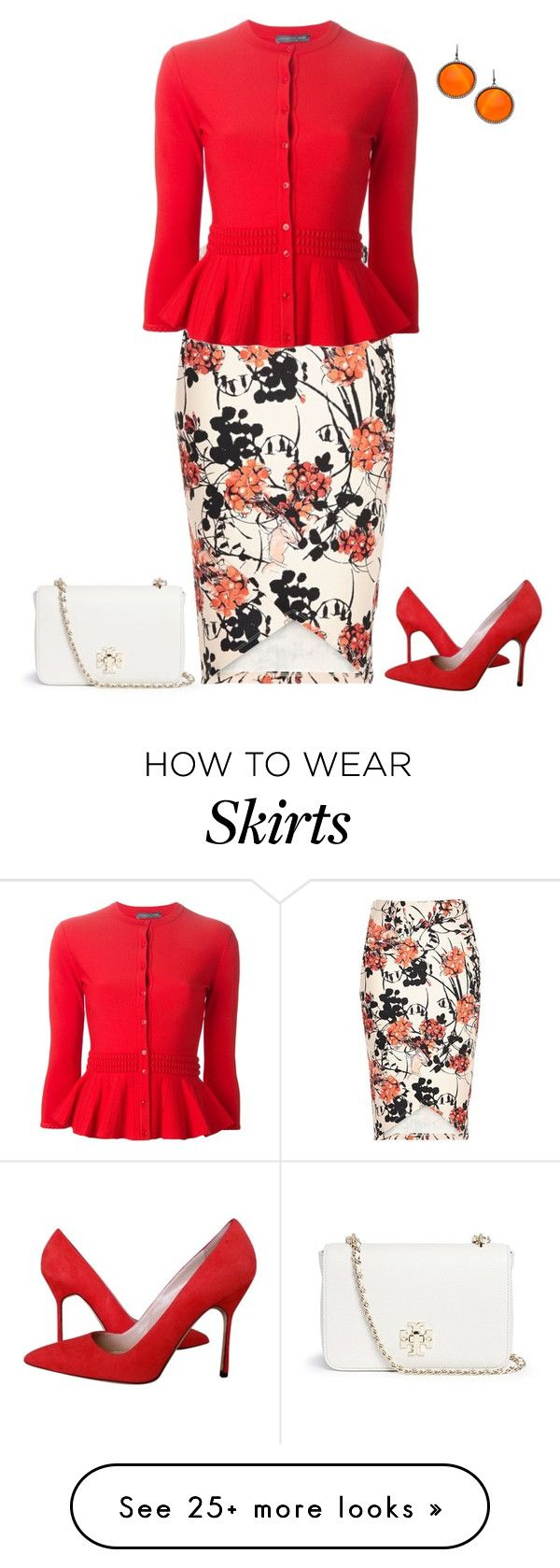 """""""outfit 3312"""" by natalyag on Polyvore featuring Tory Burch, River Island, Alexander McQueen, Manolo Blahnik, Madison Precious Jewels, women's clothing, women, female, woman and misses"""