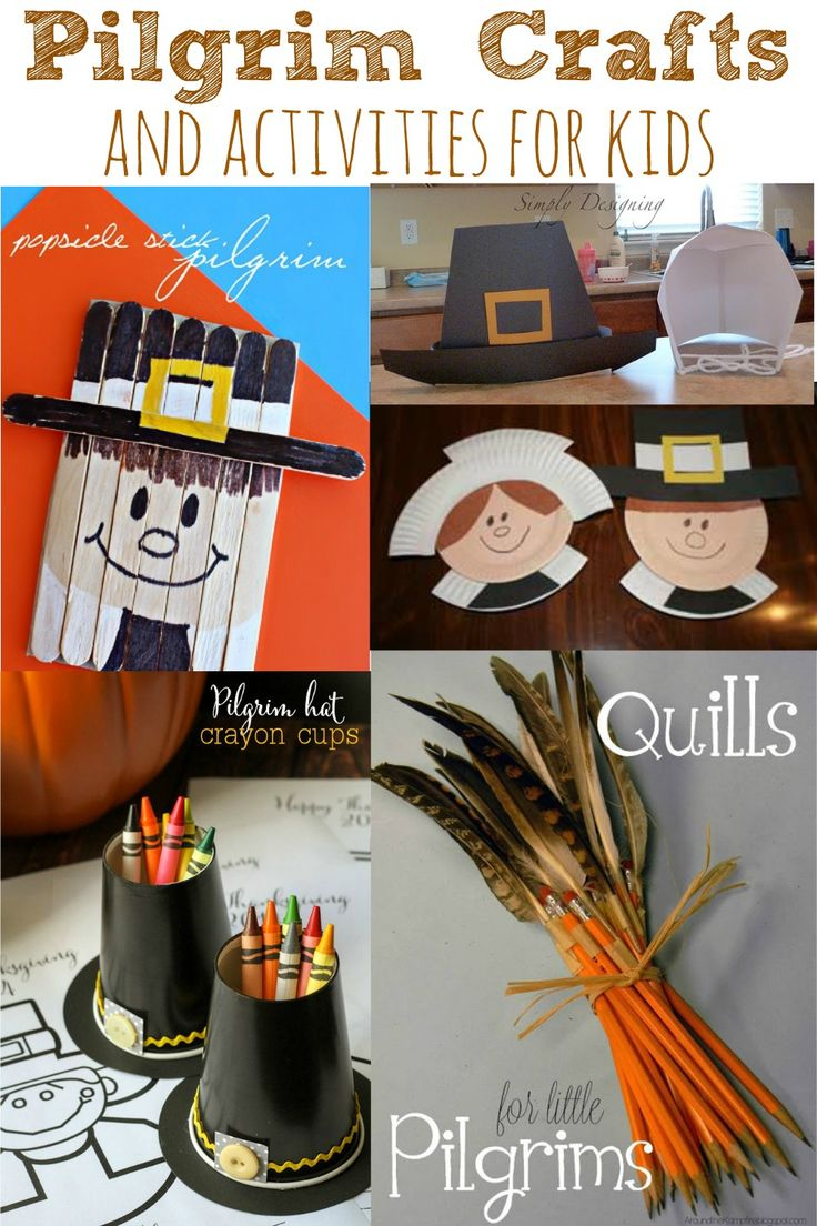 Pilgrim Crafts and Activities for Kids. Perfect for creating art and activities during Thanksgiving! - abccreativelearning.com