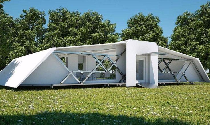 Casa portátil de 64 m² pode ser montada em menos de 10 minutos