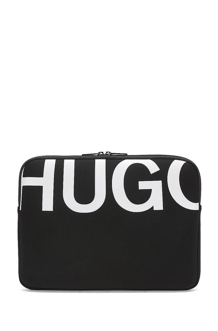 Laptophoes van licht neopreen  Zwart van HUGO voor Heren voor €80.00 in de officiële HUGO BOSS Online Store free shipping