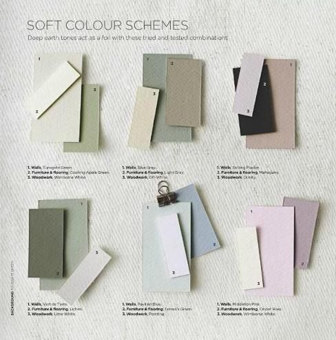 Soft colour schemes (Farrow & Ball)