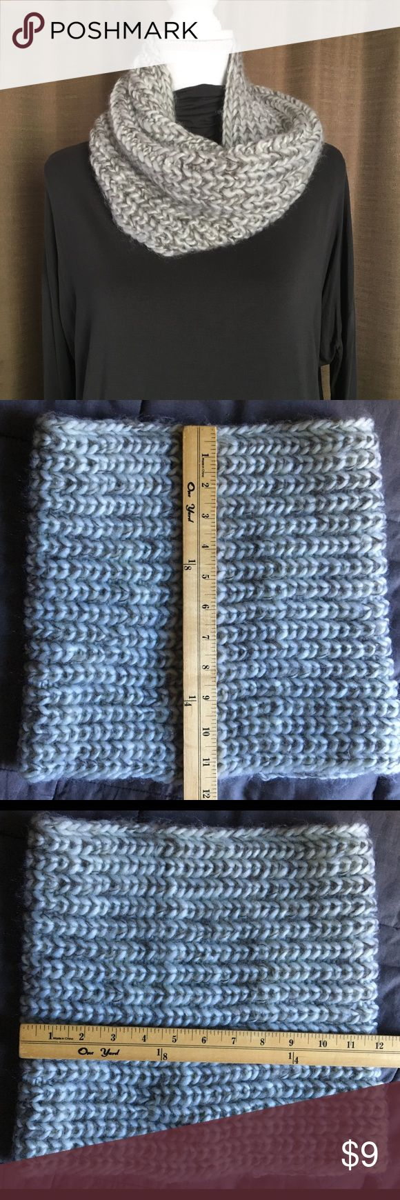 """Soft Chunky Infinity Scarf Gray Knit NWOT This scarf measures 11 1/2"""" x 12"""" inches. NWOT, Gray, soft and warm :) please feel free to ask questions :) Accessories Scarves & Wraps"""