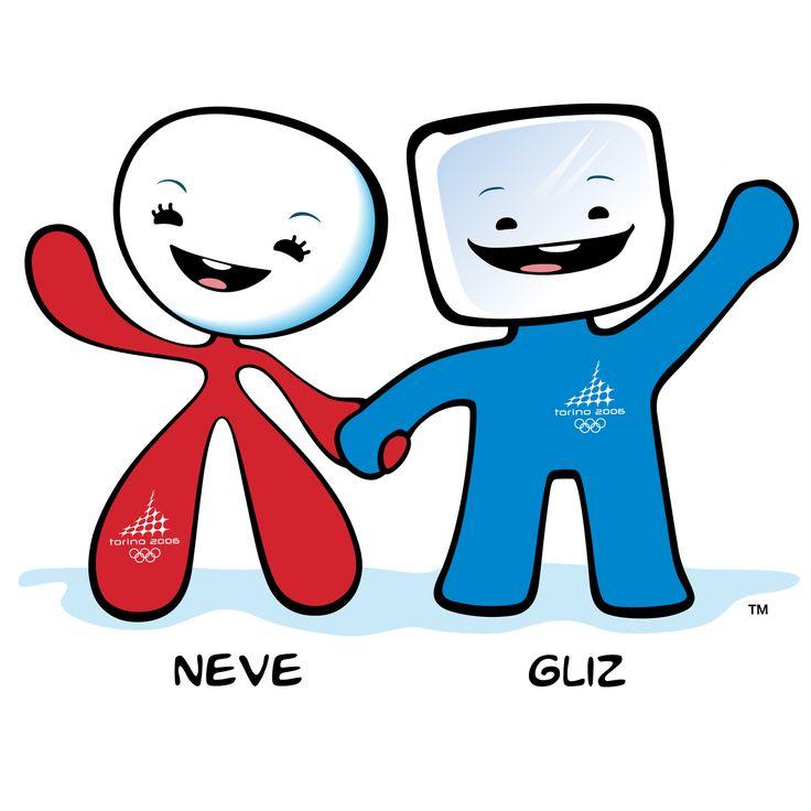 Neve and Gliz   2006 Winter Olympic mascots Turin, Italy