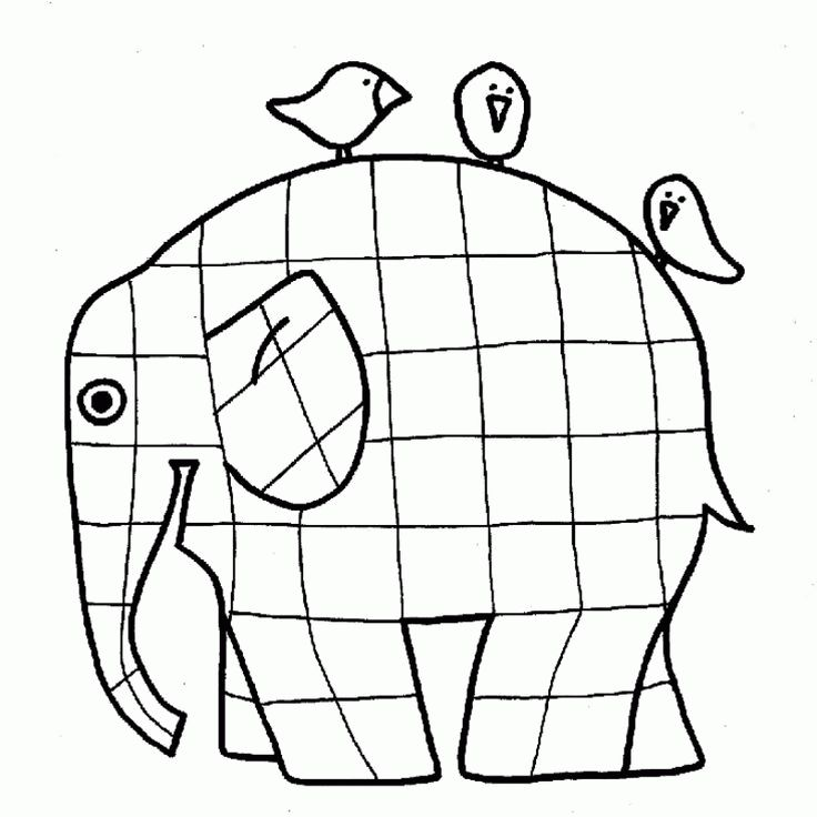 colouring sheets elmer elmer elephant coloring page - The ...