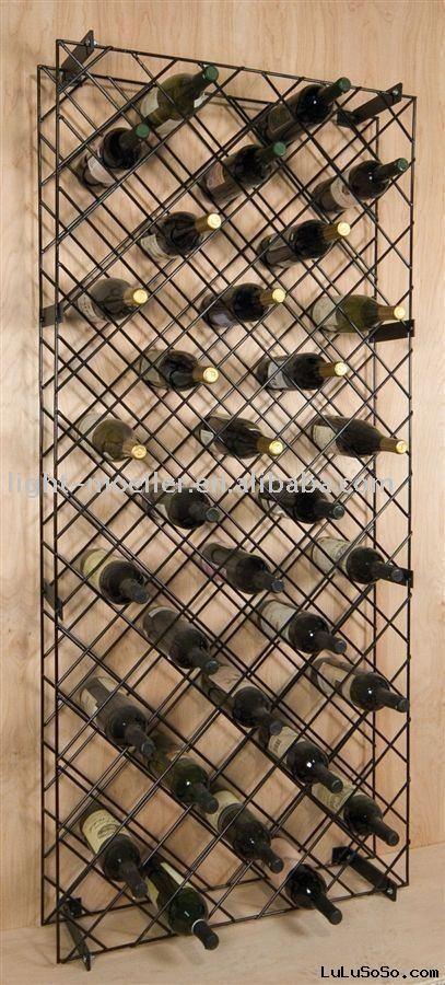 Metal Diamond Wine Rackmodel:LMWR-2050dimensions:8 in. D x 28.75 in. W x 65 in.