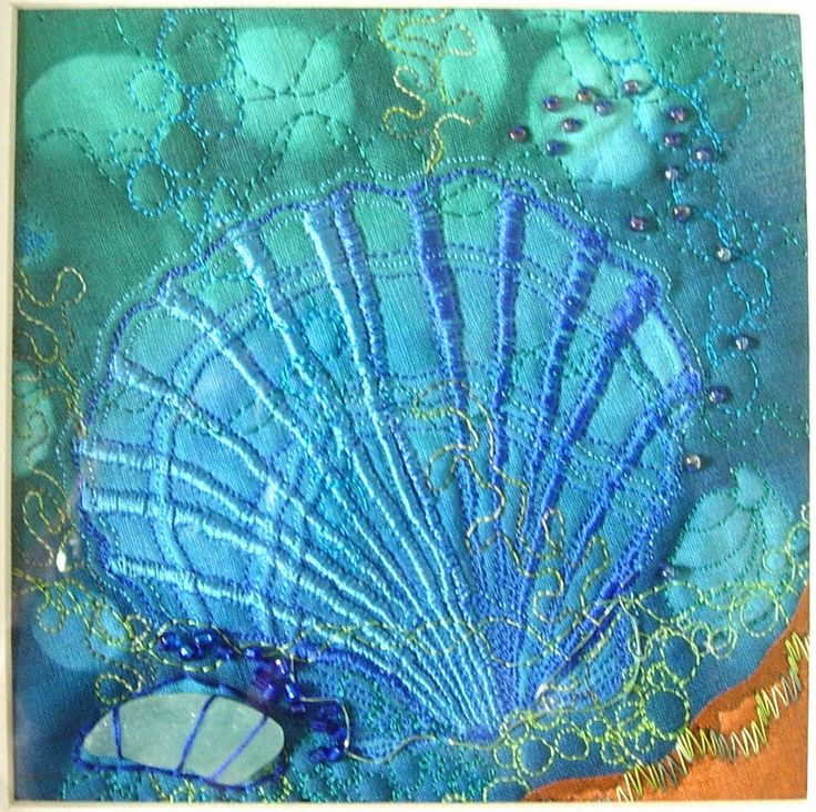close up, Seashore by Cath Stonard | textile art (UK)
