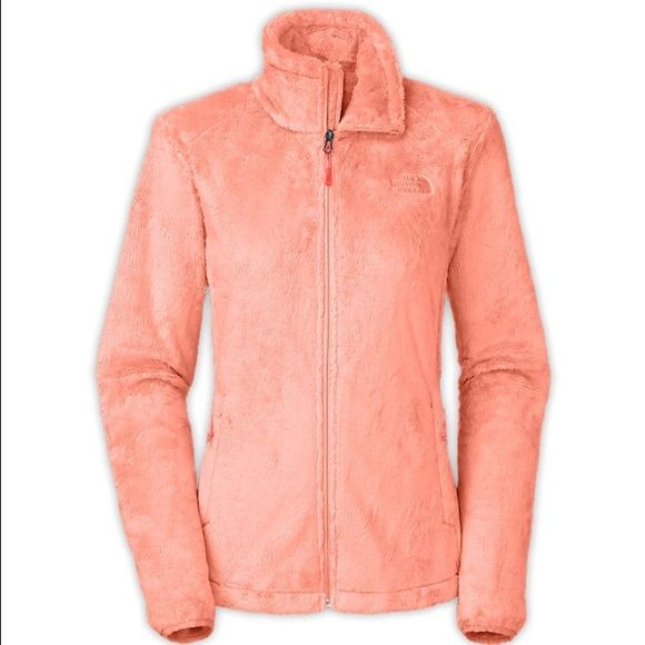 Impact Orange North Face Ositio 2 Fleece Super soft fleece zip front jacket with adjustable bottom cinch, zip pockets, and high collar. Brand new only been tried on a few times, comes with Original tag. Cover photo doesn't do the orange justice, jacket is a beautiful electric orange. North Face Jackets & Coats