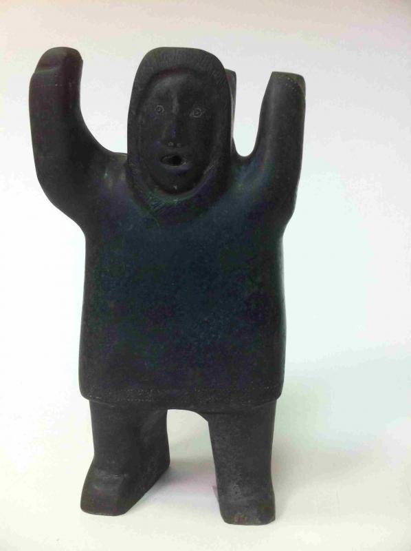 Inuit soapstone sculpture joe emiqutailaq born