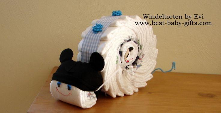 Windelmaus 'Mickey',  süsse Windeltorte von Windeltorten By Evi auf DaWanda.com