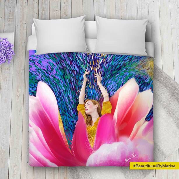 Sunshine Blossom Duvet Cover (more sizes available) created by @BeautifuuulByMarine Available here: http://rdbl.co/2n7iyiO