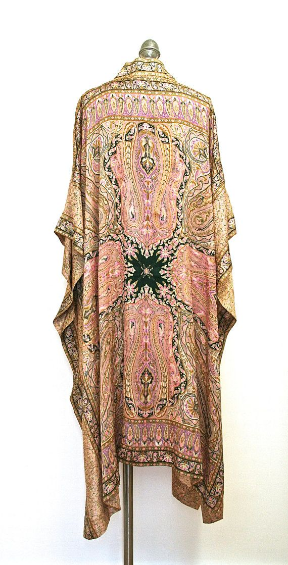 Maxi length kimono jacket / beach cover up / kaftan on Etsy, £95.00