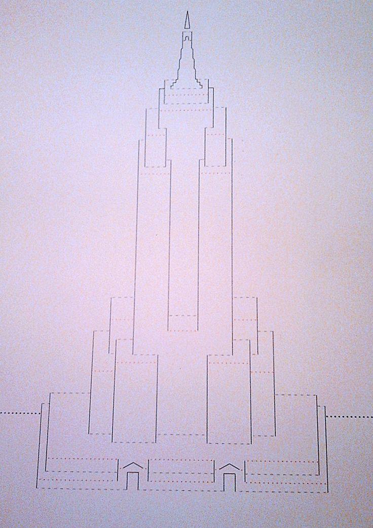 TUTORIAL: BIGLIETTO KIRIGAMI EMPIRE STATE BUILDING
