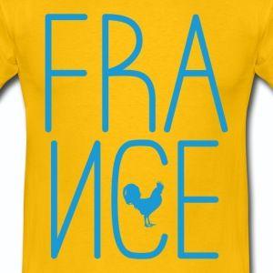 T shirt jaune homme le logo France et coq français - Tee shirt Homme