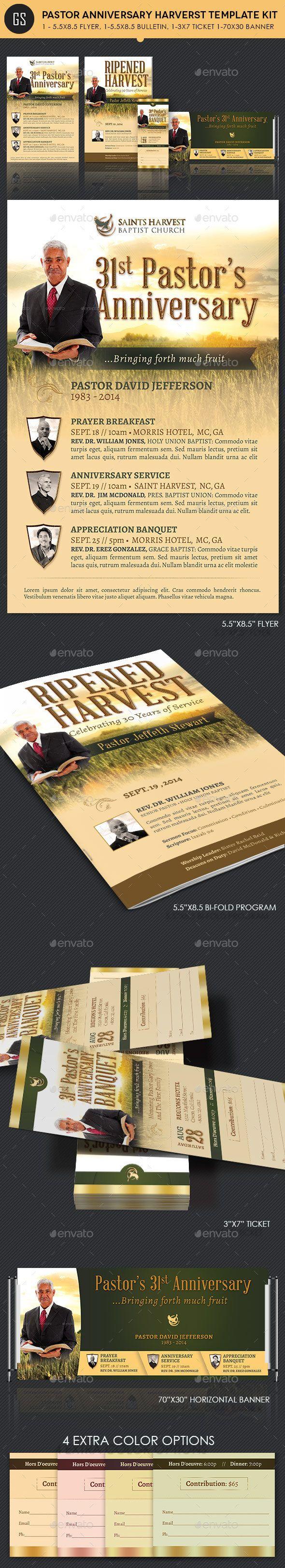 Pastor Anniversary Harvest Template Kit 14 best