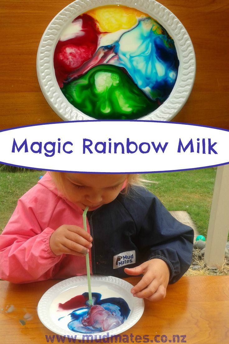 This fun, simple magic rainbow milk science experiment is great for kids of all ages. For younger children, pop on a pair of Mud Mates waterproof overalls first to protect their clothes... the rainbow milk is bound to end up on them!