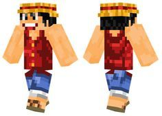 Monkey D. Luffy skin for Minecraft PE - http://minecraftpedownload.com/monkey-d-luffy/