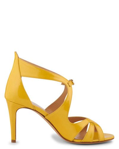 Sandales en CHEVRE VERNIS Jaune Sandale Malena Minelli