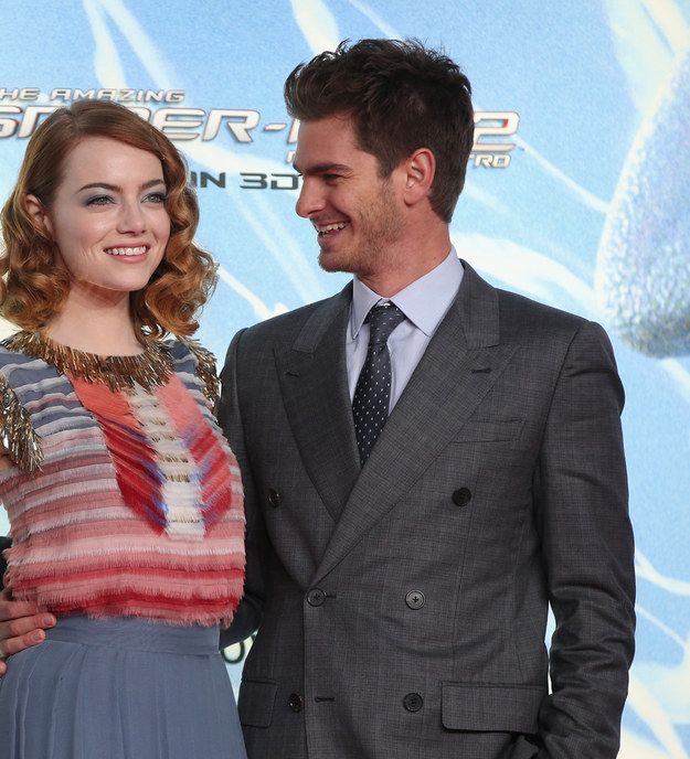 Then there's Andrew Garfield and Emma Stone. | The Way These Celebrity Guys Look At Their Girls Will Make Your Ovaries Explode
