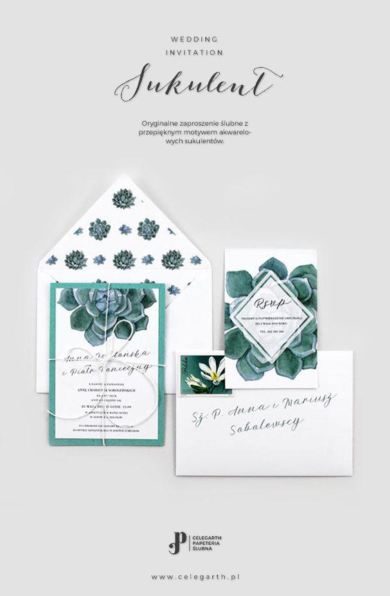 Botaniczne zaproszenie ślubne Sukulent | Pracownia Celegarth #zaproszeniaslubne #zaproszenianaslub #zaproszenia #rustykalnezaproszenia #greenery #motywnaslub #pomyslnazaproszenia #eko #wesele #slub #pomyslnaslub #sukulent #celegarth #weddinginvitation #weddingstationery #weddingdesign #rustic #botanicalinvitation #succulent