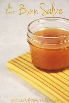 The Best Burn Salve Recipe! So easy to make and great to keep on hand for minor burns and sunburns!