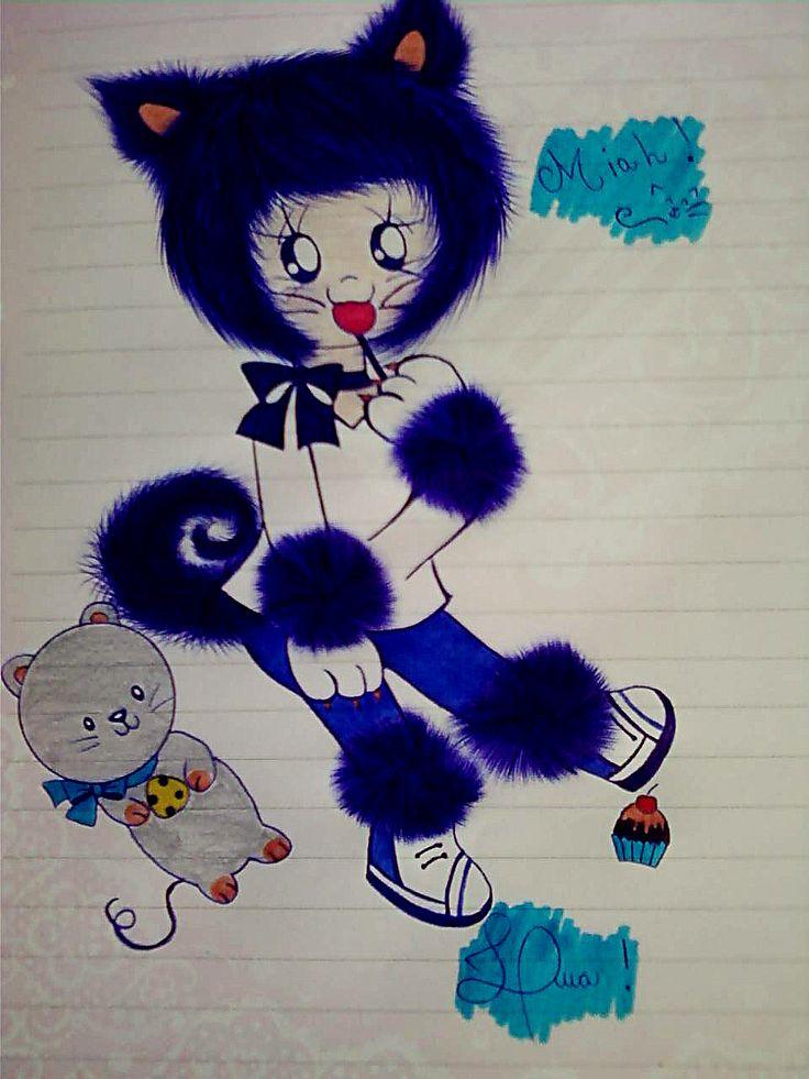 Blue Neko  #neko #miah #meow #bluecat #blue @luamiki