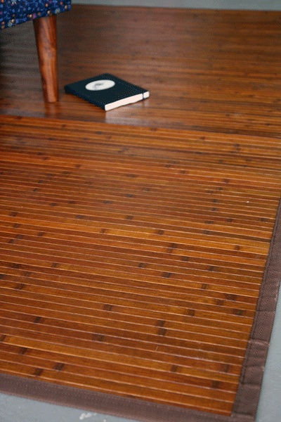 Brown Bamboo Floor Mat
