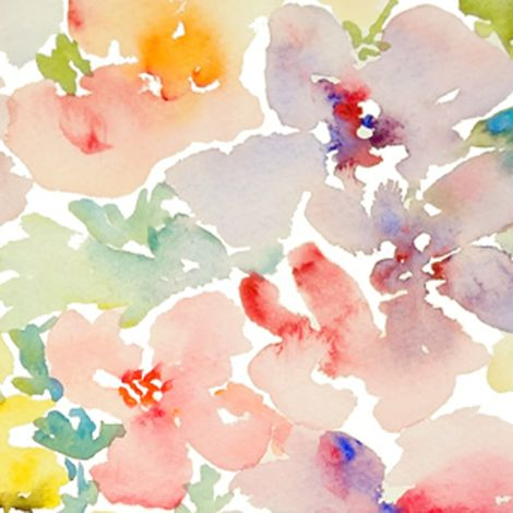 Watercolor Flowers, Spring 2013 Collection, No.1 fabric by susan_magdangal on Spoonflower - custom fabric $32 per yard