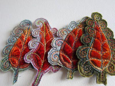 velvet felt embroidery