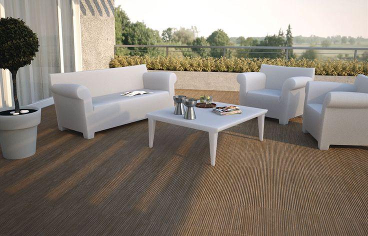 Propuesta material gres porcelánico para revestimiento de terraza, modelo OREGÓN de Baldocer, de dimensiones 43x43cm