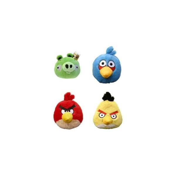 Angry Birds - Pack De 4 Peluches 3.5''