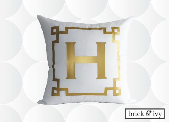 ✤ One Pillow Cover is included    ✤ Designed to Fit the Selected Pillow Size (Exterior Measures Slightly Smaller for Snug Fit)    ✤ The Monogram is