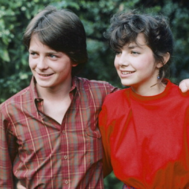 "Michael J. Fox and Justine Bateman of ""Family Ties"""