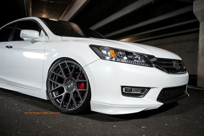 Honda Accord on 20x10 squared Stance SC-8 - Stance Wheels