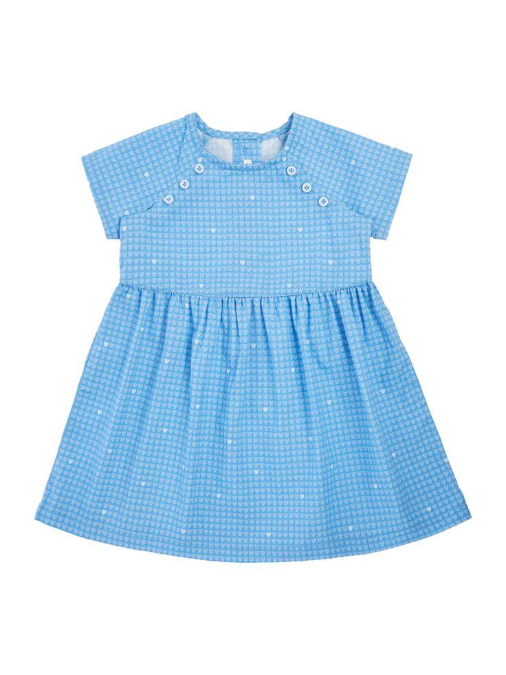 enneton Baby Blue Button Dress - http://tidd.ly/275da2c9