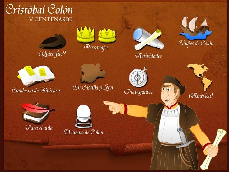 Juego interactivo Cristóbal Colón y las civilizaciones precolombinas.