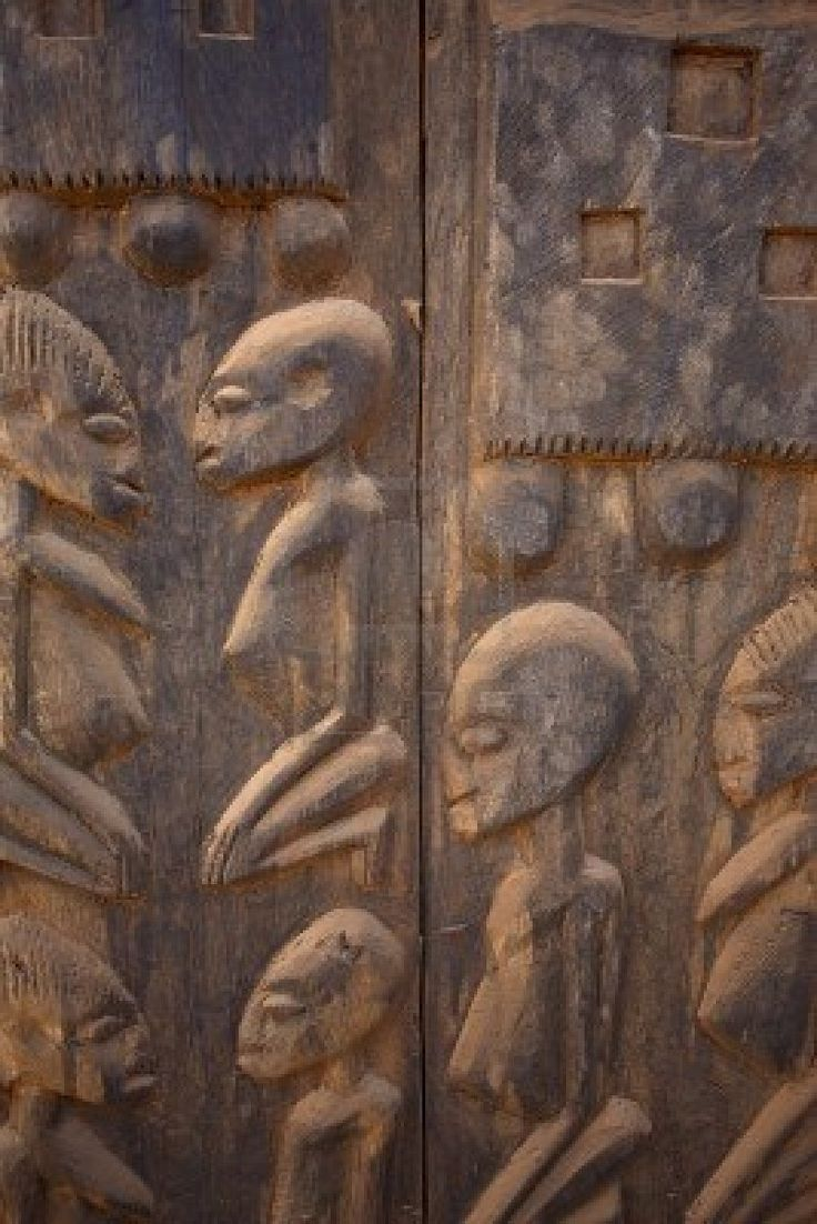 ....the Dogon of Mali depict some curious cravings in their crafts. Their creator gods are amphibious humanoids, often bluish