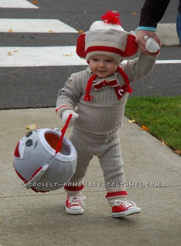 "Cutest Sock ""Hop"" Monkey Halloween Costume"